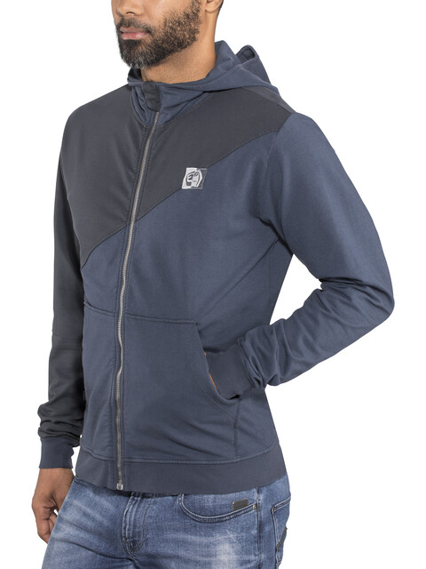 E9 M's 45 Zipped Hoody bluenavy
